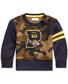 Polo Ralph Lauren Baby Boys Camo Sweater