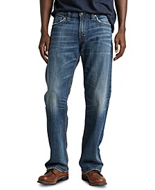 Men's Zac Relaxed-Straight Fit Stretch Jeans