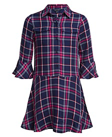 Big Girls Plaid Shirtdress