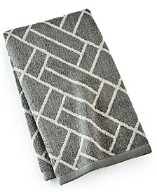"""CLOSEOUT! Block Geo Cotton 16"""" x 30"""" Hand Towel, Created for Macy's"""