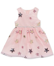 Rare Editions Baby Girls Sequin Star Dress