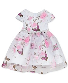 Rare Editions Baby Girls Printed Organza Dress