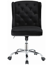 Upholstered Swivel Office Chair