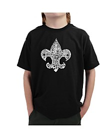 LA Pop Art Big Boy's Word Art T-Shirt - 12 Points of Scout Law
