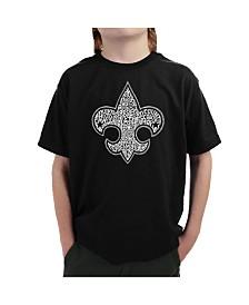 LA Pop Art Big Boy's Word Art T-Shirt - Boy Scout Oath