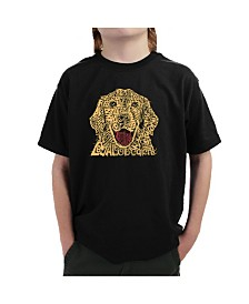 LA Pop Art Big Boy's Word Art T-Shirt - Dog