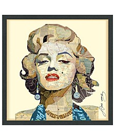 'Homage To Marilyn' Dimensional Collage Wall Art - 25'' x 25''