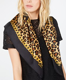 Echo Cheetah Status Silk Square Scarf