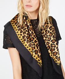 Echo Cheetah Status Silk Square Scarf