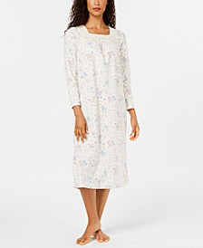 Women's Printed Fleece Nightgown, Created for Macy's