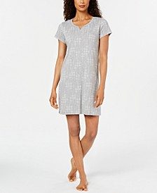 Women's Knit Printed Sleepshirt Nightgown, Created for Macy's