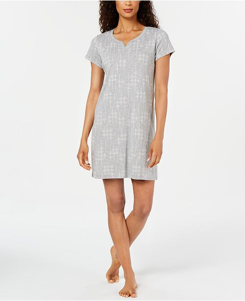 Charter Club Women's Knit Printed Sleepshirt Nightgown, Created for Macy's