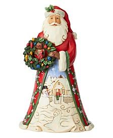 Jim Shore Santa with Scene and Wreath