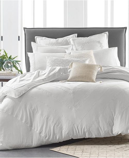 Lucky Brand Stitch Diamond Duvet Sets, Created for Macy's
