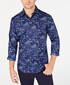 Men's Stretch Asiago Paisley Print Shirt, Created for Macy's