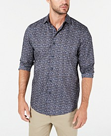 Men's Stretch Tapestry Print Shirt, Created for Macy's