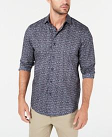 Tasso Elba Men's Tapestry Print Shirt, Created for Macy's