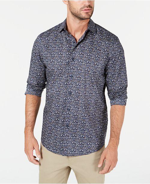 Tasso Elba Men's Stretch Tapestry Print Shirt, Created for Macy's