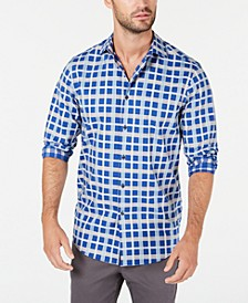 Men's Stretch Modern Plaid Shirt, Created for Macy's