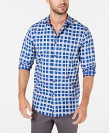 Tasso Elba Men's Modern Plaid Shirt, Created for Macy's