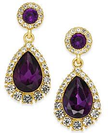 Pavé & Stone Drop Earrings, Created for Macy's
