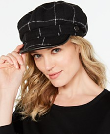 I.N.C. Windowpane-Plaid Newsboy Cap, Created for Macy's