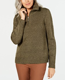 Karen Scott Petite Marled-Knit Sweater, Created for Macy's