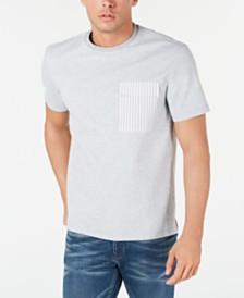 Michael Kors Men's Woven Mixed T-Shirt