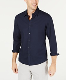 Michael Kors Men's Slim-Fit Stretch MK Logo Shirt
