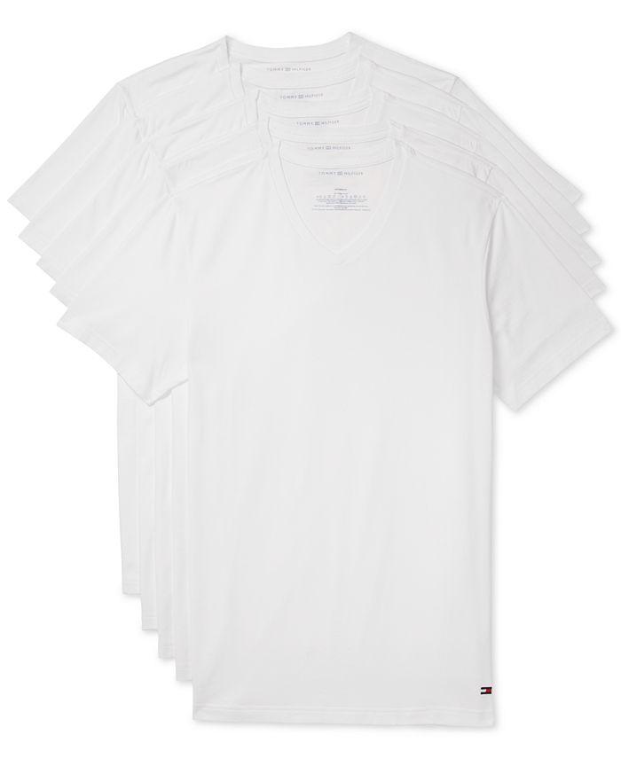 Tommy Hilfiger - Men's 5-Pk. Cotton Classics V-Neck Undershirts