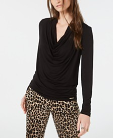 Michael Michael Kors Cowl-Neck Top, Regular & Petite Sizes