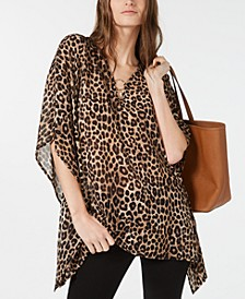 Leopard Print Flutter Top