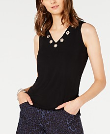 I.N.C. Embellished Tank Top, Created for Macy's