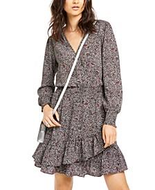 Ruffled V-Neck Dress