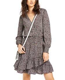 Michael Michael Kors Ruffled V-Neck Dress