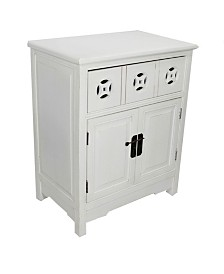 Heather Ann Asia Accent Cabinet with 2-Door Sideboard and Drawer