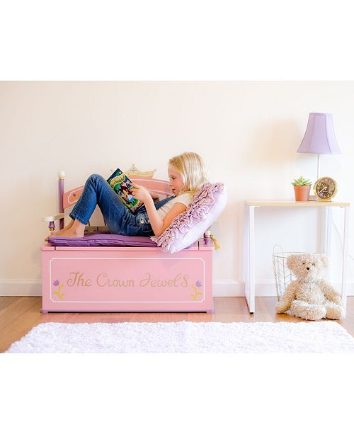Wildkin Bench Seat With Storage Princess