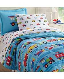 Wildkin's Trains, Planes and Trucks Sheet Set - Twin