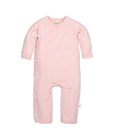 Burt's Bees Baby Organic Cotton Quilted Kimono Coverall