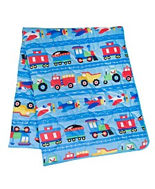 Wildkin's Trains, Planes and Trucks 7 Pc Bed in a Bag -Full