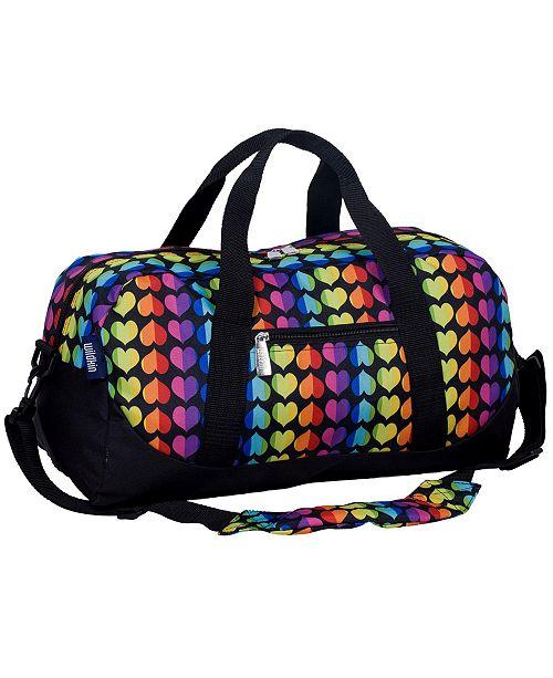 Rainbow Hearts Overnighter Duffel Bag