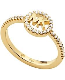 Michael Kors Sterling Silver Kors Love Logo Ring