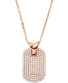 Sterling Silver Custom Kors Pave Pendant Necklace