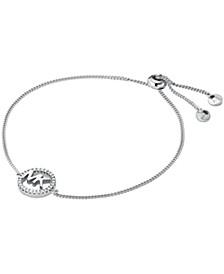 Sterling Silver Kors Love Logo Slider Bracelet