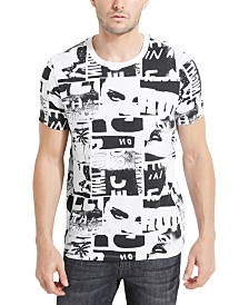 GUESS Men's Crop Collage Graphic T-Shirt