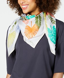 Echo Summer Palms Silk Square Scarf