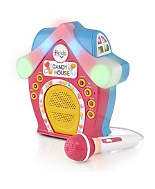 The Singing Machine Kids Candy House Portable Bluetooth Sing-Along Speaker