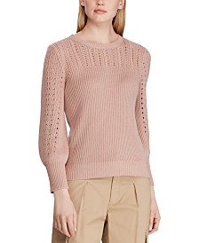 Lauren Ralph Lauren Lightweight Pointelle-Knit Sweater