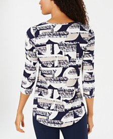 JM Collection Printed T-Shirt, Created for Macy's