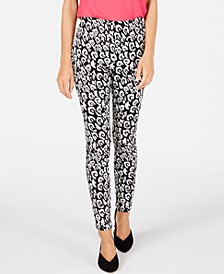 INC Leopard-Print Jacquard Skinny Pants, Created for Macy's